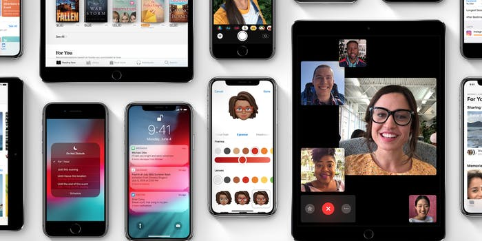 iOS 12 preview on iPhones, iPads