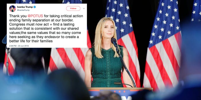 Ivanka Trump breaks silence on border crisis.