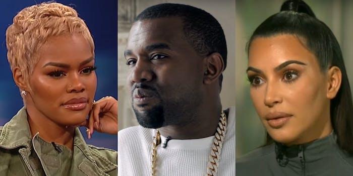 """A Reddit rumor theorized that Kanye West sampled Kim Kardashian's sex tape on Teyana Taylor's album 'K.T.S.E."""""""