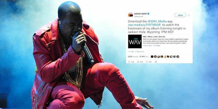 kanye west wav media streaming app ye album