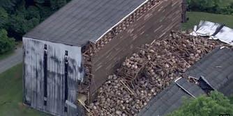 Kentucky bourbon warehouse collapsed