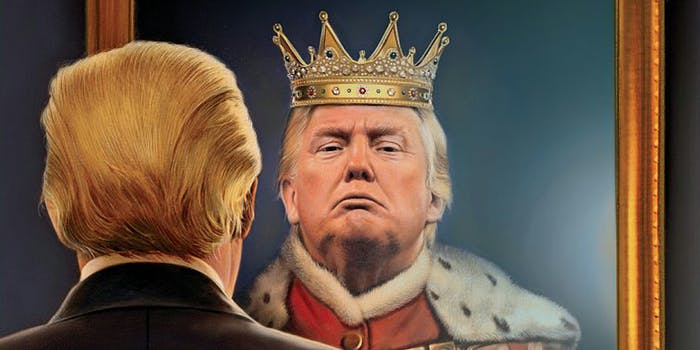 Donald Trump sees himself as a king in the mirror
