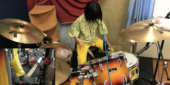 8 year old drummer does led zeppelin