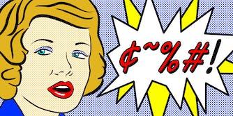 Roy Lichtenstein woman saying a censored word