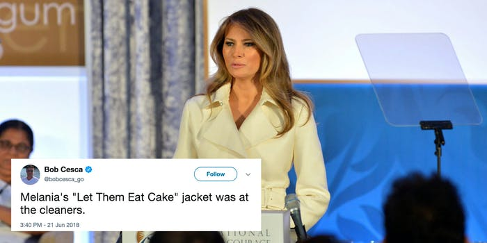 Melania Trump wore a jacket reading 'I DON'T REALLY CARE. DO U?' on her way to visit children detention centers at the U.S. border.