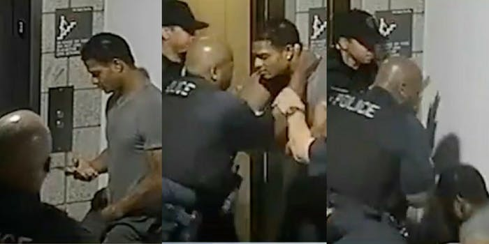Four Mesa, Arizona, police officers beat an unarmed Black man for not sitting down.