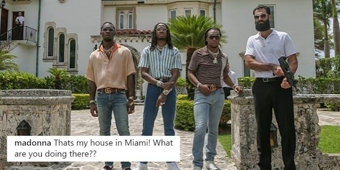 migos visits madonnas house for a photo shoot