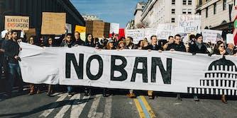 muslim travel ban protest