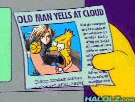 simpsons meme : old man yells at cloud