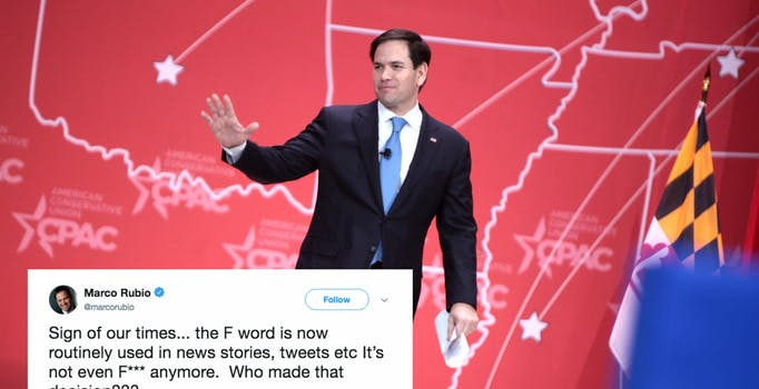 Marco Rubio Laments the F-word on Twitter, Gets Cursed Out