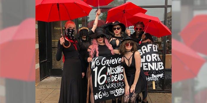 sex worker sesta protest