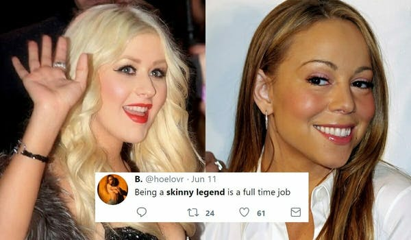 skinny legend meme - mariah carey and christina aguilera