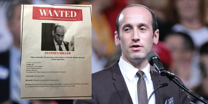 stephen miller wanted poster