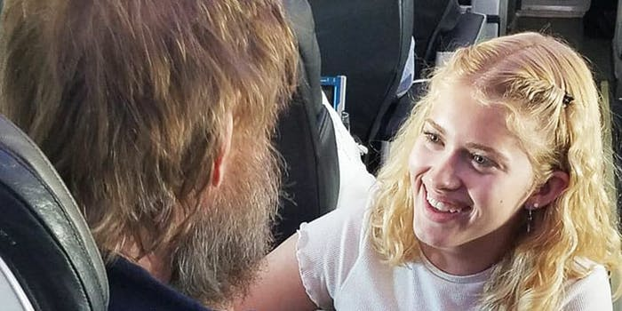 teen helps blind deaf man