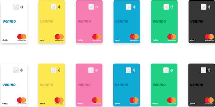 Venmo card colors