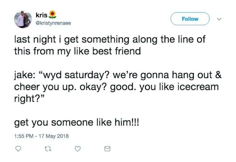 A tweet describing a WYD scenario