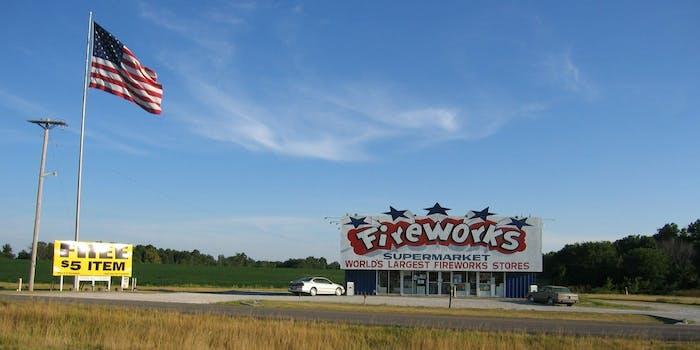 fireworks illegal