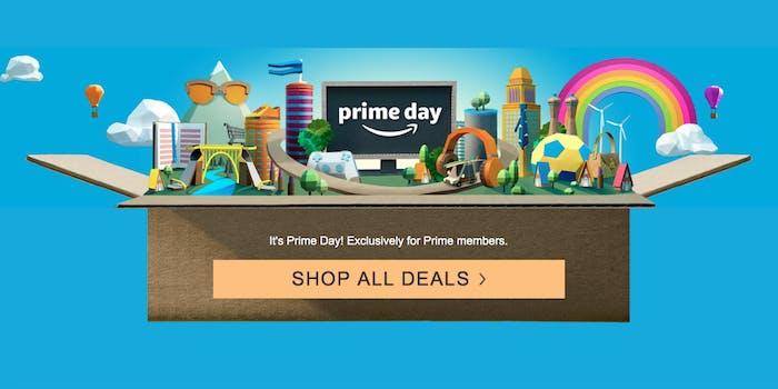 Amazon down, Prime Day landing page