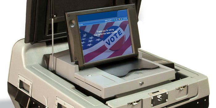 Election Systems & Software voting machine