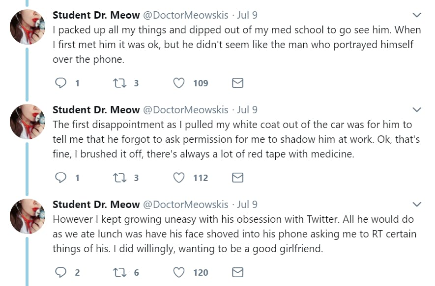 Eugene Gu, the doctor perhaps most known for successfully suing Donald Trump for blocking him on Twitter, was accused of sexual assault yesterday by his ex-girlfriend.