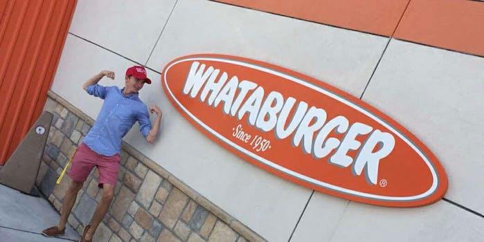MAGA hat Whataburger