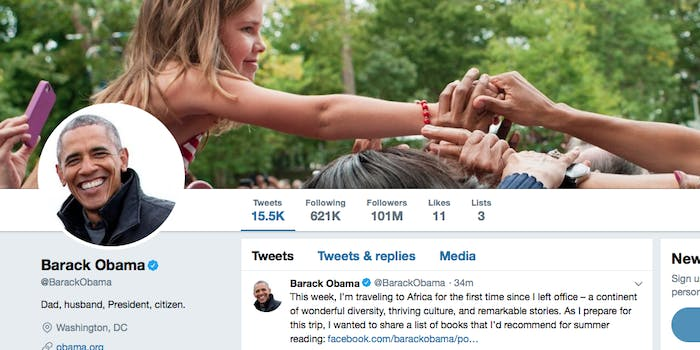 Obama's Twitter Page