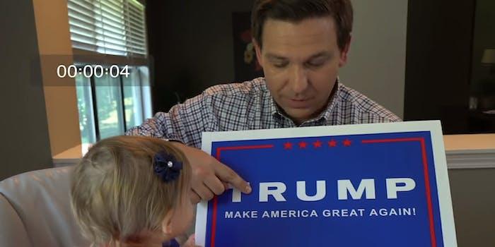 Ron DeSantis Trump Ad