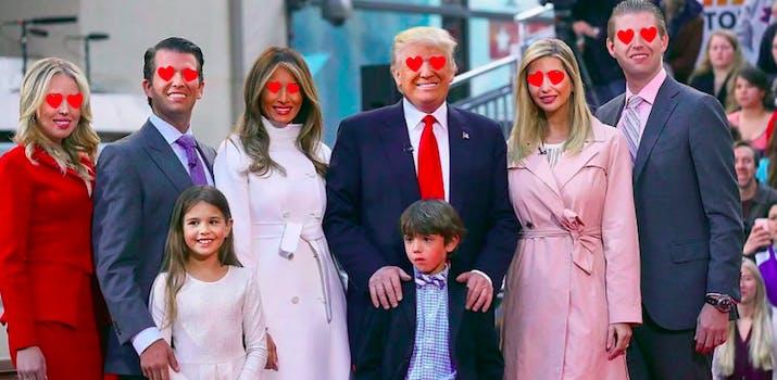 trump family twitter likes