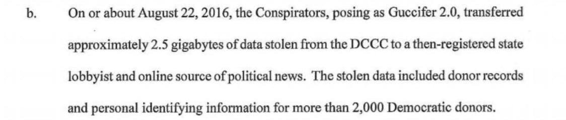 mueller indictment dnc hacks