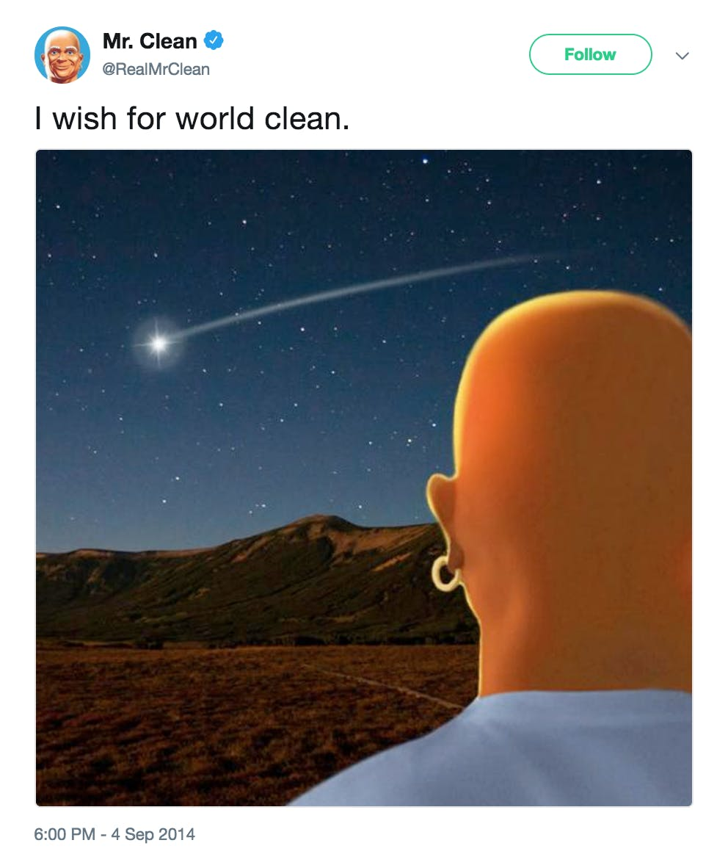 Mr Clean Thanos Tweet