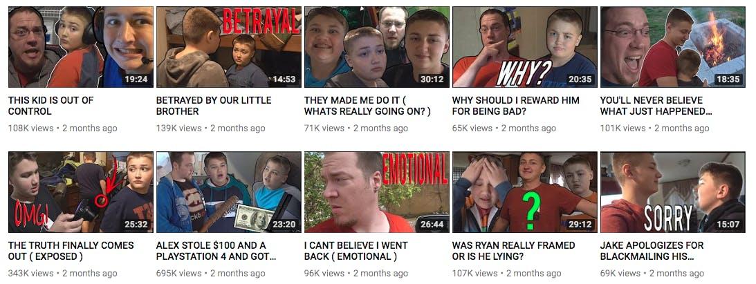 familyofive youtube channel