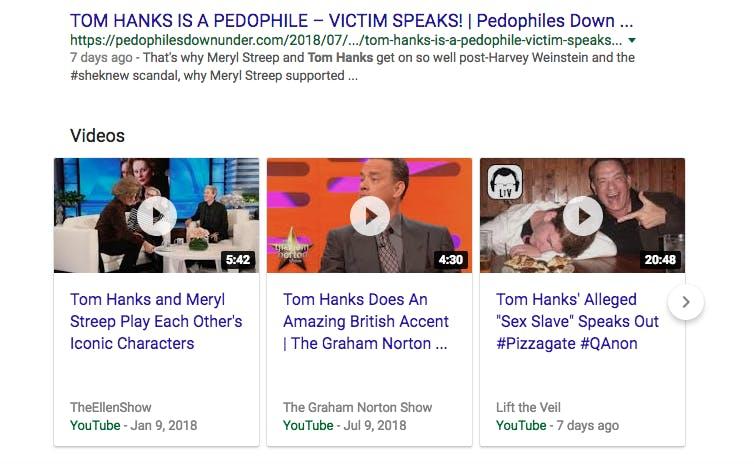 tom hanks youtube results
