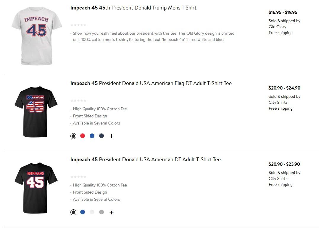 Walmart Impeach 45 clothes