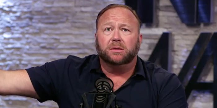 Alex Jones gets mocked on Twitter for saying Democrats are trying to start a civil war on July 4.