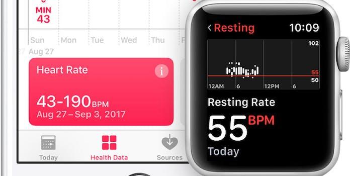 Apple Watch heart rate readings