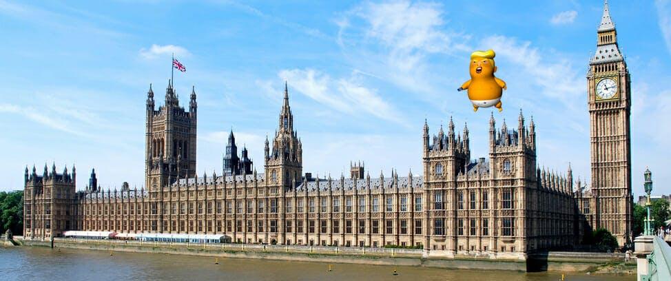 baby trump parliament