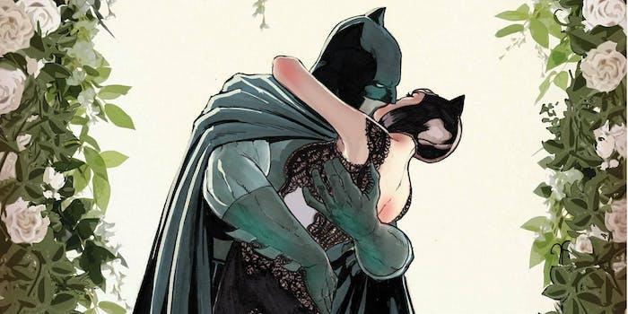 batman catwoman kiss