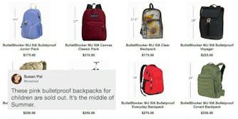 Bulletproof backpacks for back to school shopping.