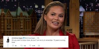 Chrissy Teigen shares why she was jealous of women in a John Legend music video.