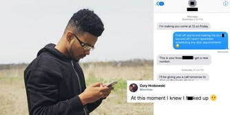 A Chicago teen accidentally texted his boss about a 'dick appointment' and has resigned.