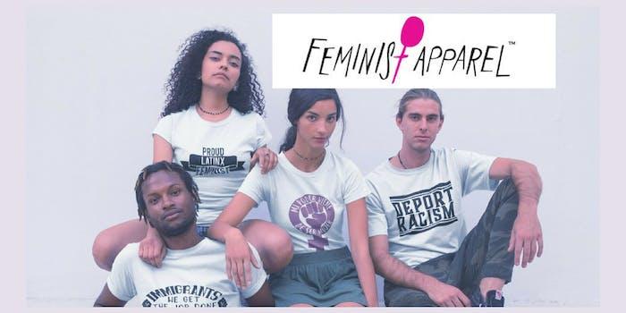 Feminist Apparel's website