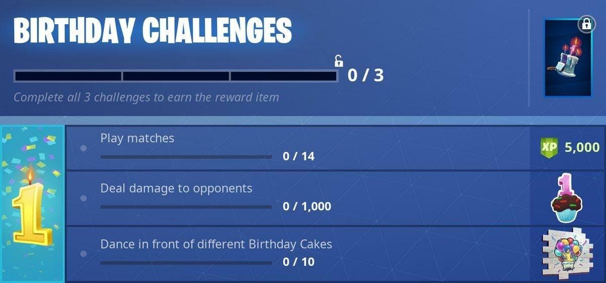 fortnite birthday challenge