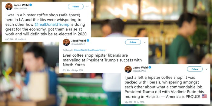 jacob wohl was at a hipster coffee shop