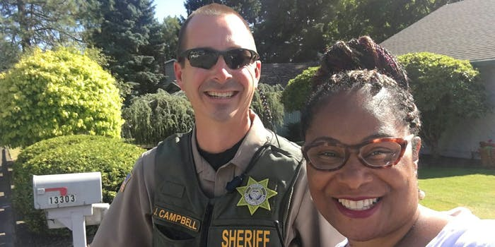 Oregon Rep. Janelle Bynum says a woman called the police on her while she was campaigning door-to-door.