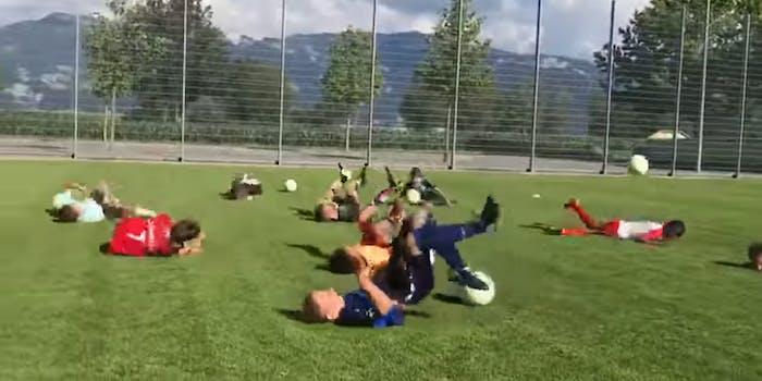 kids doing the neymar