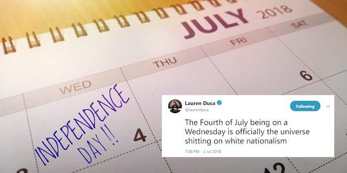 lauren duca 4th of july on wednesday tweet