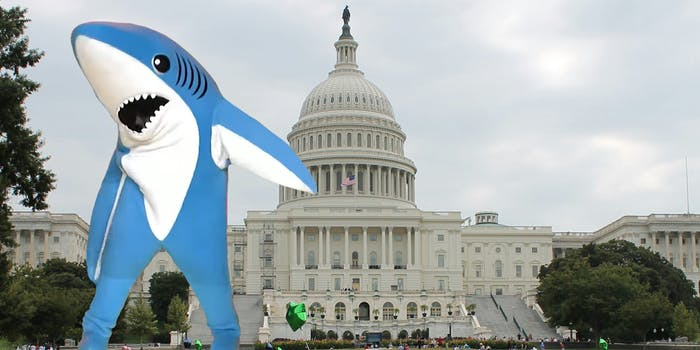 left shark at the US Capitol