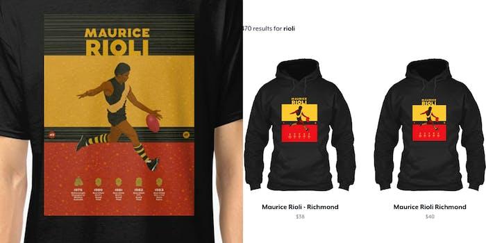 maurice rioli shirt and teespring copyright infringement