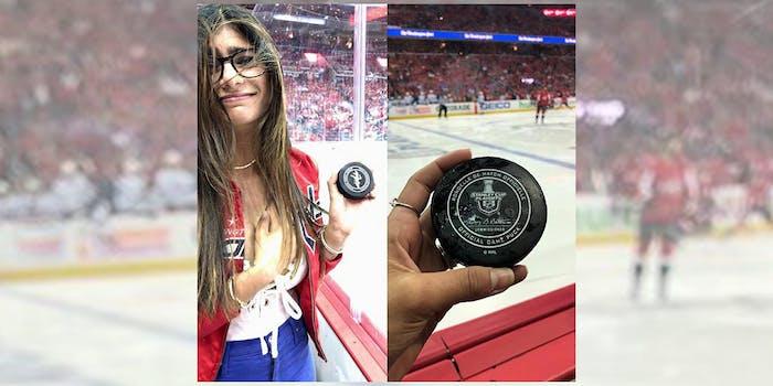 mia khalifa hockey puck