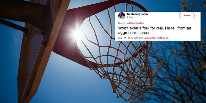 The police were called during a game of pickup basketball in Virginia.